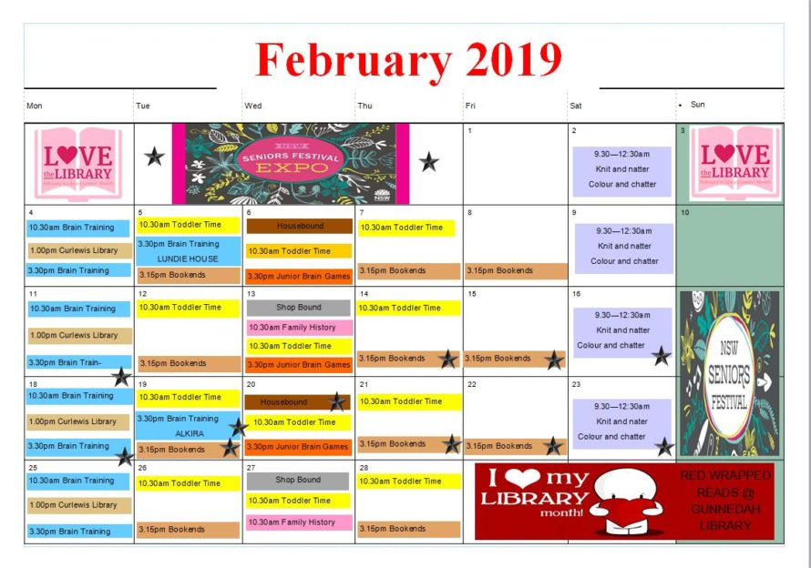 Gunnedah Library Program Feb
