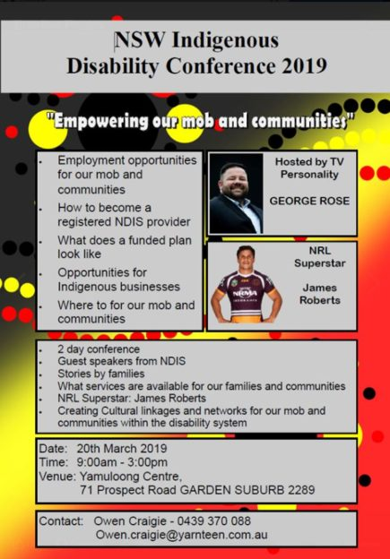 NSW Indigenous Disability Conference 2019