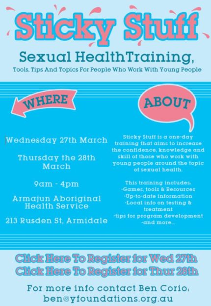 Sexual Health Training Working With Young People Armajun Health Service Aboriginal Corporation Armidale